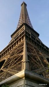 De Eiffeltoren van dichtbij